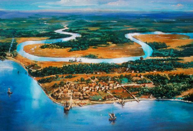 ジェームスタウンの植民地(history.com)