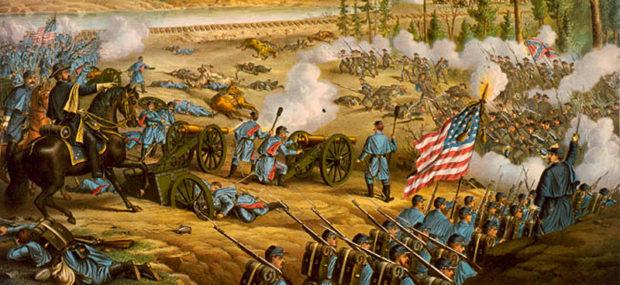 北軍の攻勢を描いた絵画(warfarehistorynetwork.com)