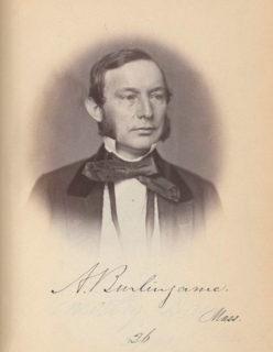 アンソン・バーリンゲームの1858年の肖像(Library of Congress)