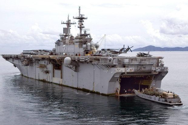 米海軍の多目的攻撃鑑ワスプ(US NAVY)