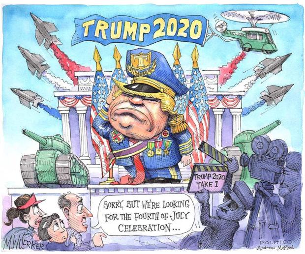 米政治雑誌Politicoの風刺漫画(2019年7月4日)