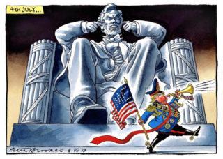 英紙The Timesの風刺漫画(2019年7月5日)