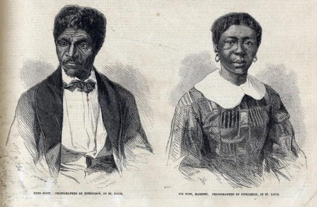 ドレッドとハリエット夫妻の1857年6月27日の新聞イラスト(Chicago History Museum)