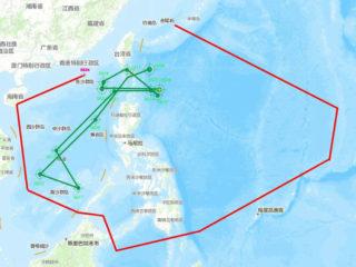 ②遼寧艦隊と米空母の航跡(多維新聞)