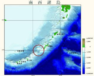 ③南西諸島。色が濃いほど水深が深い(海上保安庁)