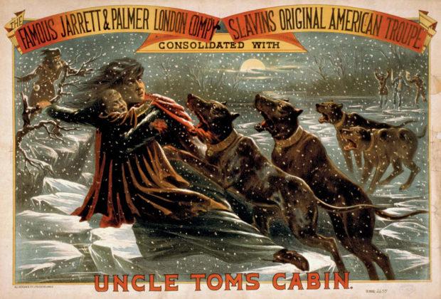 1881年の舞台劇「アンクル・トムの小屋」のポスター(Library of Congress)