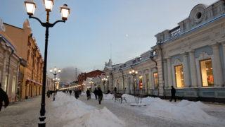 イルクーツクの市街地の中心部に位置するウリツキー通り