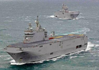 ロシアが手に入れたかったフランスのヘリ空母ミストラル(2020年3月27日、French Navy Photo)