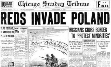 ソ連軍のポーランド侵攻を報じたシカゴ・サンデー・トリビューン紙
