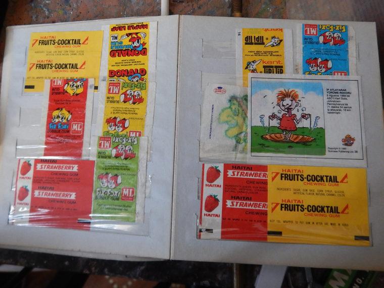 イルクーツクっ子がかつて収集した外国産のチューインガムの包装紙
