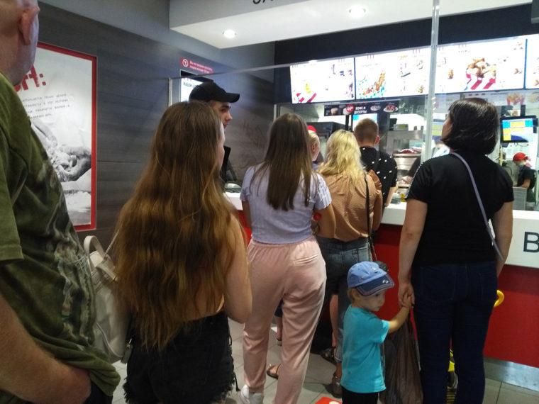 経済制裁の開始後にオープンしたイルクーツクのアメリカ系チェーン店