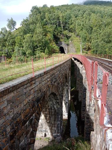 線路沿いの古いトンネルや鉄道橋