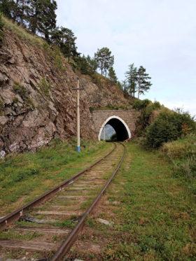 地形に合わせて設計されたという卵型の形状のトンネル