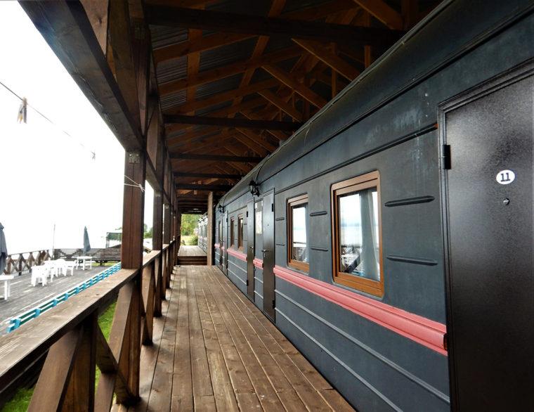 シャルイジャルガイの列車型ホテル