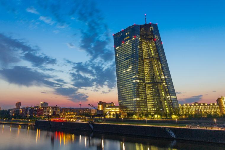 ドイツ・フランクフルト市内にある欧州中央銀行本店の建物(Wikipediaより)
