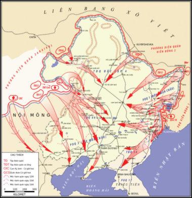 ソ連の満洲国侵攻を説明する地図 (The National Interest)
