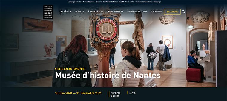 ナント歴史博物館のサイト