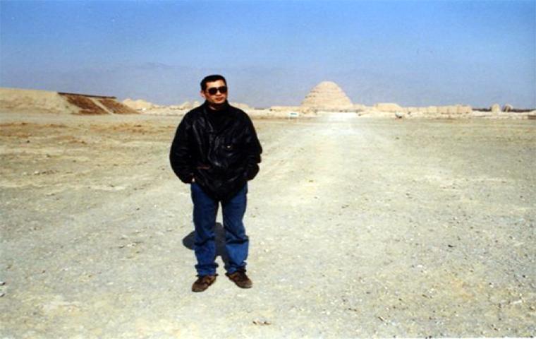 2001年、内モンゴルの砂嵐を取材