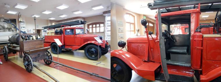 帝政時代の消防車とスターリン時代の消防車