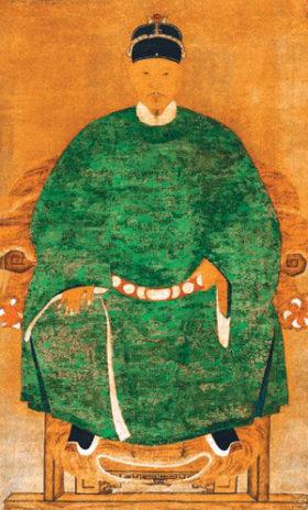 台湾に初めて漢人政権を打ち建てた鄭成功(国立台湾博物館所蔵/故宮博物院修復)