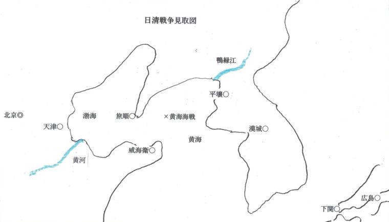 日清戦争の看取り図(筆者制作)