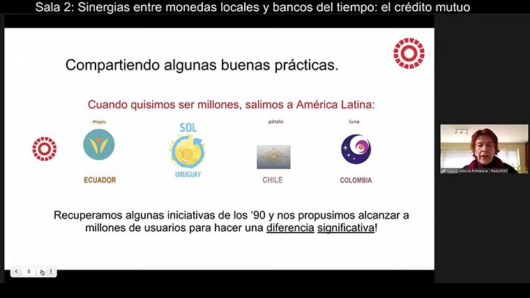 パル通貨などについて分科会で発表を行うエロイサ・プリマベーラ