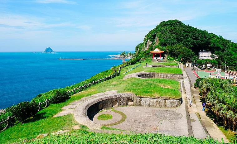 基隆港の白米甕砲台(はくべいが・ほうだい)跡(wikipedia)
