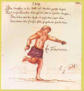 17世紀中葉にドイツ人軍人が描いた「フォルモサ人」のスケッチ(ドイツ・ゴータ大学図書館所蔵)