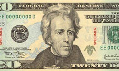 1861年から20ドル紙幣の顔だった第7代大統領アンドリュー・ジャクソン。2020年に黒人活動家の肖像に置き換えられた(Getty Images)