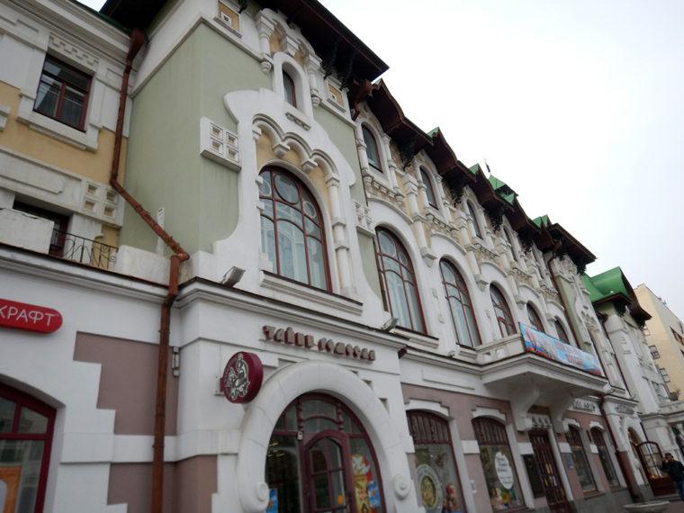 ハバロフスク市内の伝統的な建物
